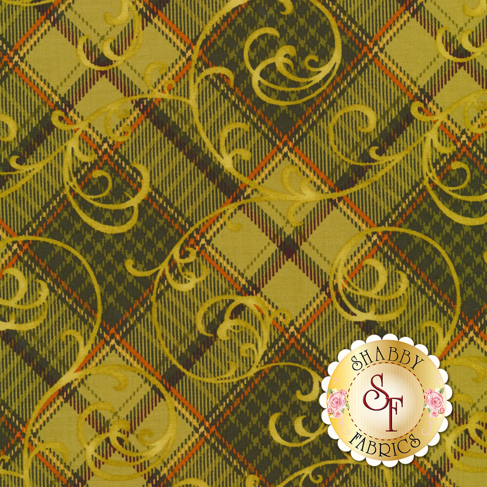 Autumn Time 2326-66 Green by Henry Glass Fabrics available at Shabby Fabrics