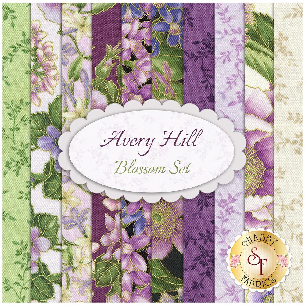 Avery Hill 10 FQ Set - Blossom Set from Robert Kaufman Fabrics available at Shabby Fabrics
