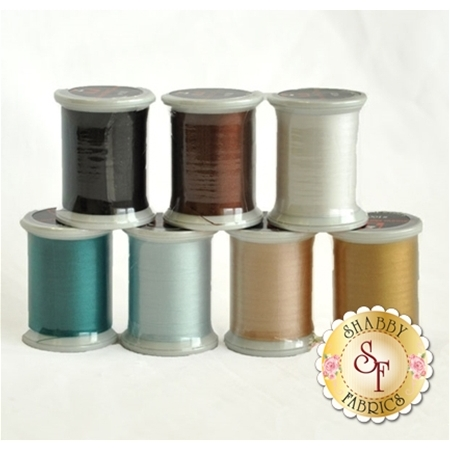 Blessings of Winter - Fresh Snow BOM - 7pc Silk Thread Set