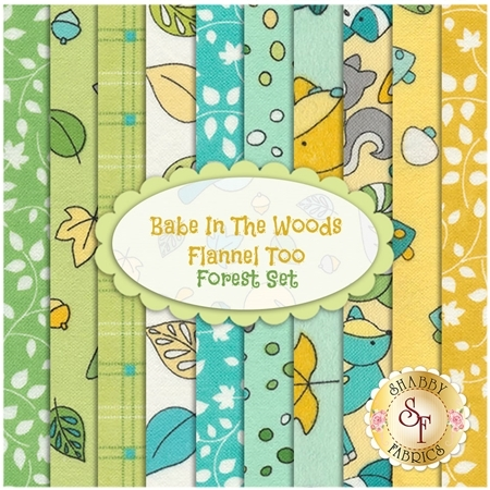 Babe In The Woods  10 FQ Set - Forest Set by Maywood Studio Fabrics