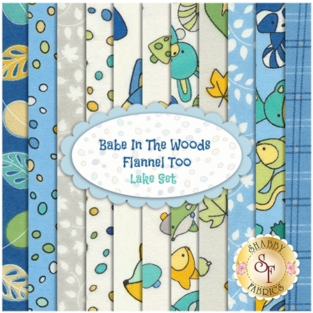 Babe In The Woods  11 FQ Set - Lake Set by Maywood Studio Fabrics