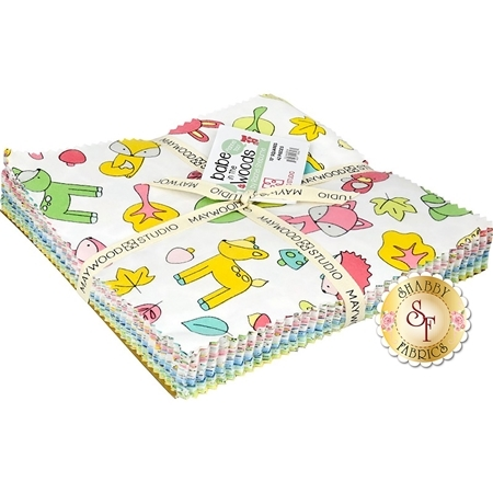 """Babe In The Woods  10"""" Squares by Maywood Studio Fabrics"""
