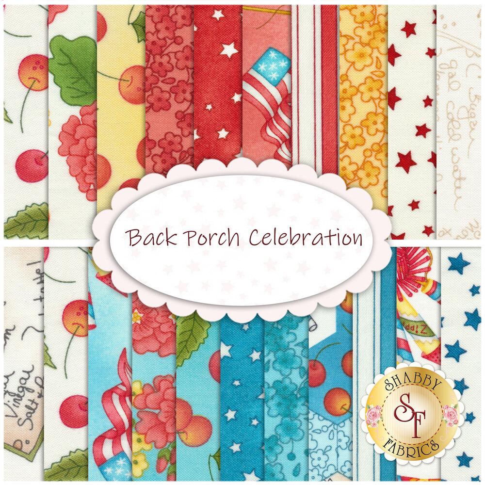 Back Porch Celebration  21 FQ Set Available at Shabby Fabrics