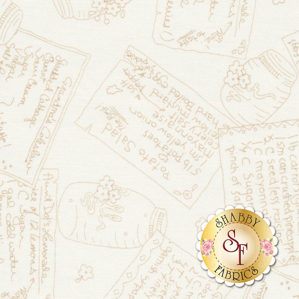 Back Porch Celebration 9382-T Tan Recipe Box Available at Shabby Fabrics