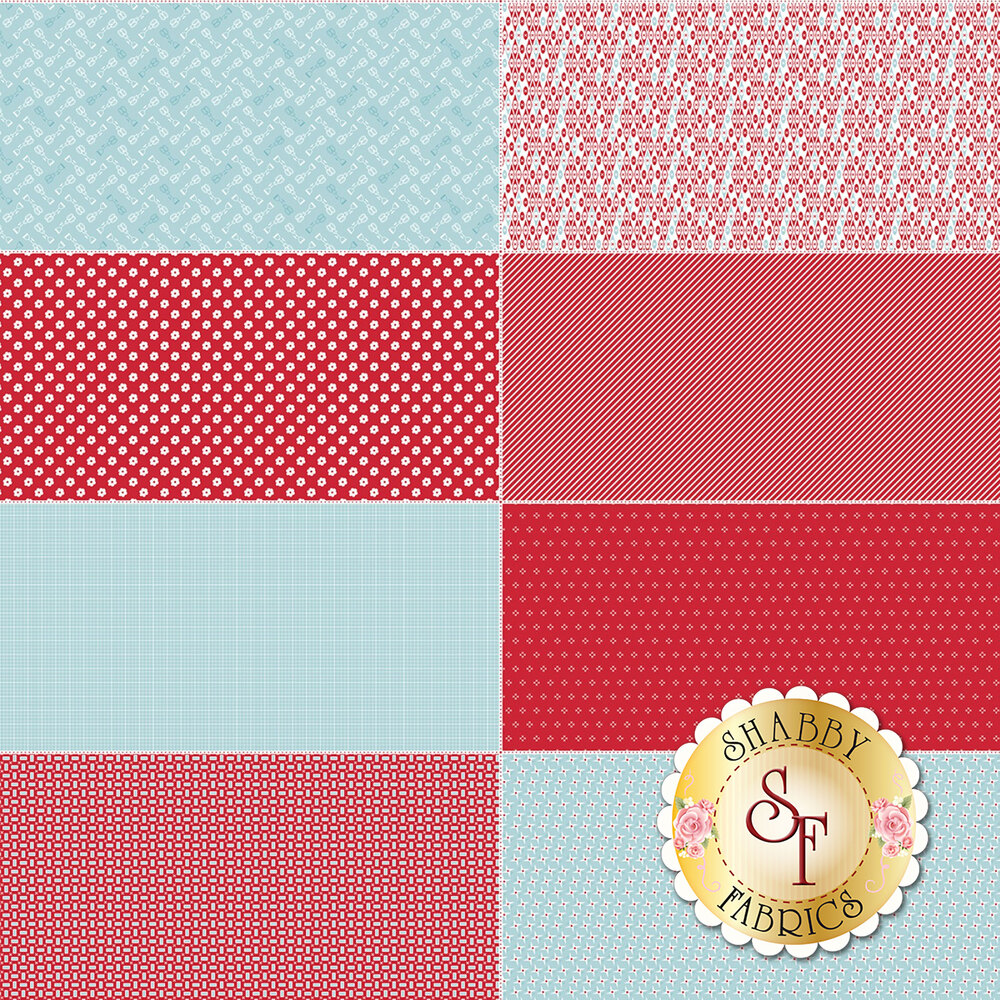 Bake Sale 2  FEP6989-RED Fat Eighth Panel by Lori Holt for Riley Blake Designs