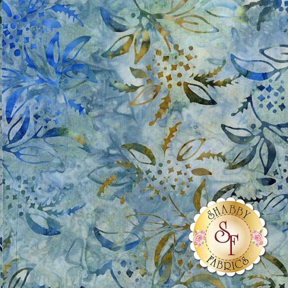 Baker's Dozens Batiks Batiks 8501-W Celestial Blue Lilac from Laundry Basket Quilts