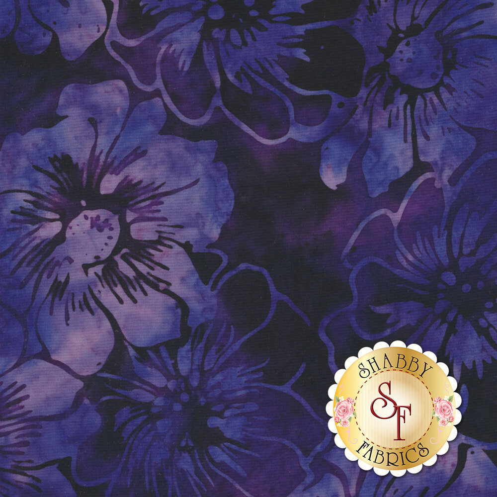 Light purple mottled flowers on a dark purple mottled background