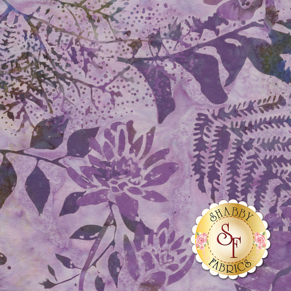 Bali Batiks Q2140-369 Floral Mix Monaco for Hoffman Fabrics