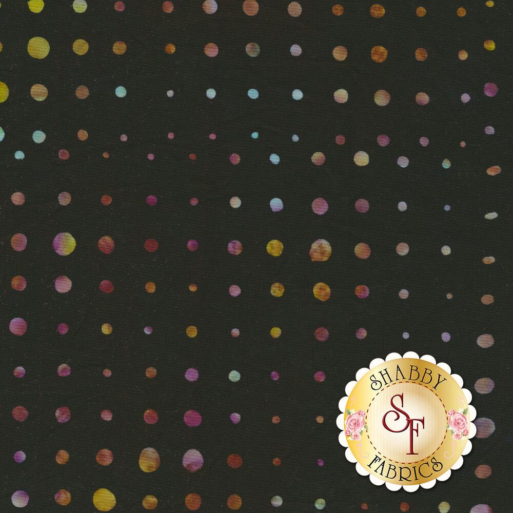 Bali Batiks Q2144-197 Dot Grid Black Grape for Hoffman Fabrics