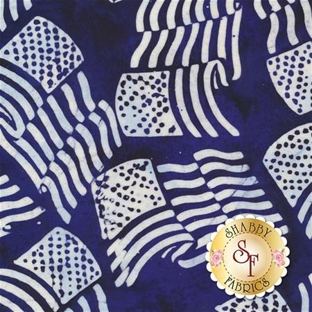 Bali Batiks 2017 P2981-7 Blue by Hoffman Fabrics