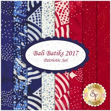 Bali Batiks 2017  8 FQ Set - Patriotic Set by Hoffman Fabrics