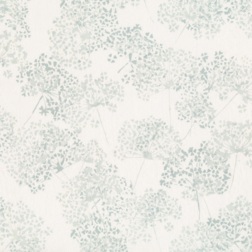 Tossed blue flowers on white | Shabby Fabrics