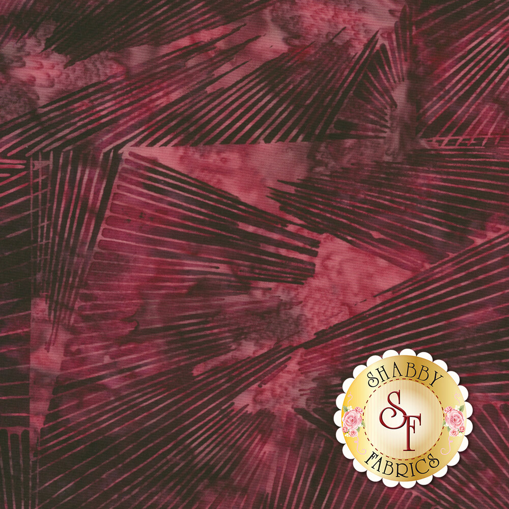 Black geometric stripes on a dark purple mottled background