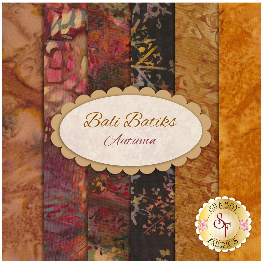 Bali Batiks  6 FQ Set - Autumn by Hoffman Fabrics