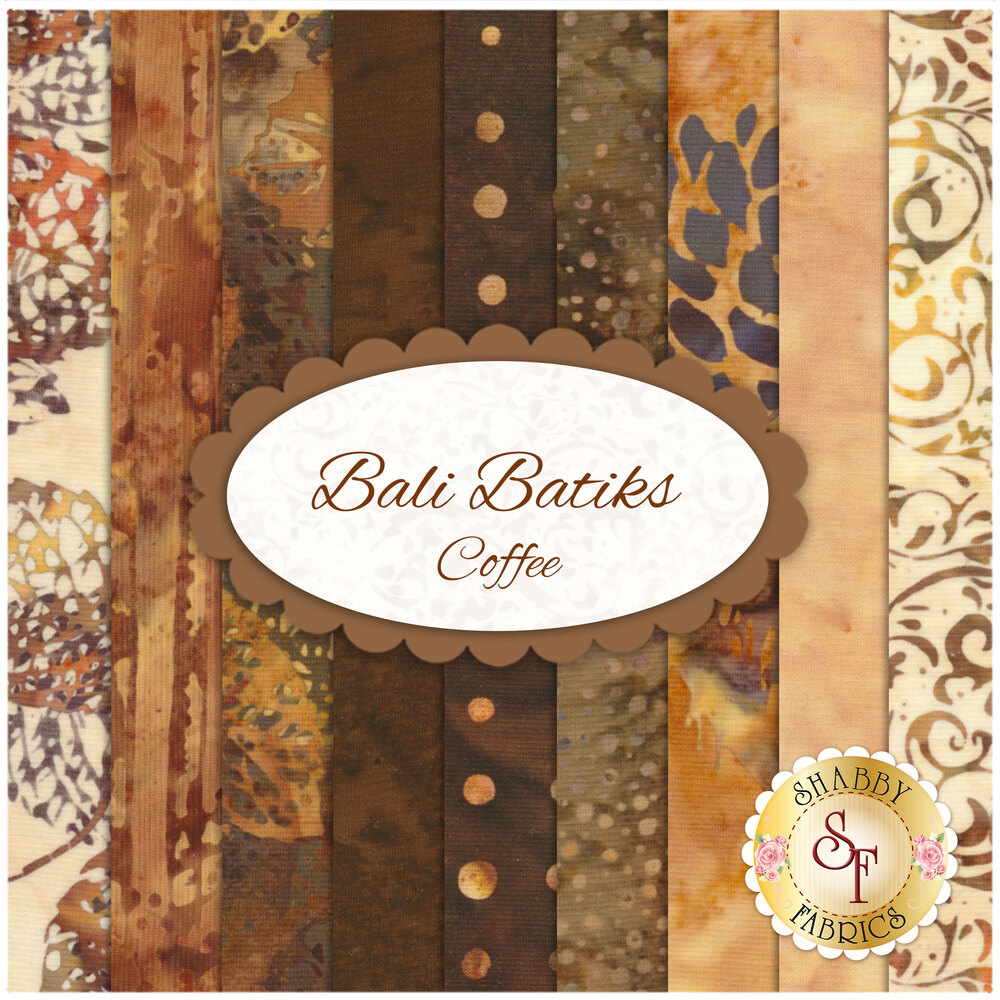 Bali Batiks 9 FQ Set - Coffee for Hoffman Fabrics California International