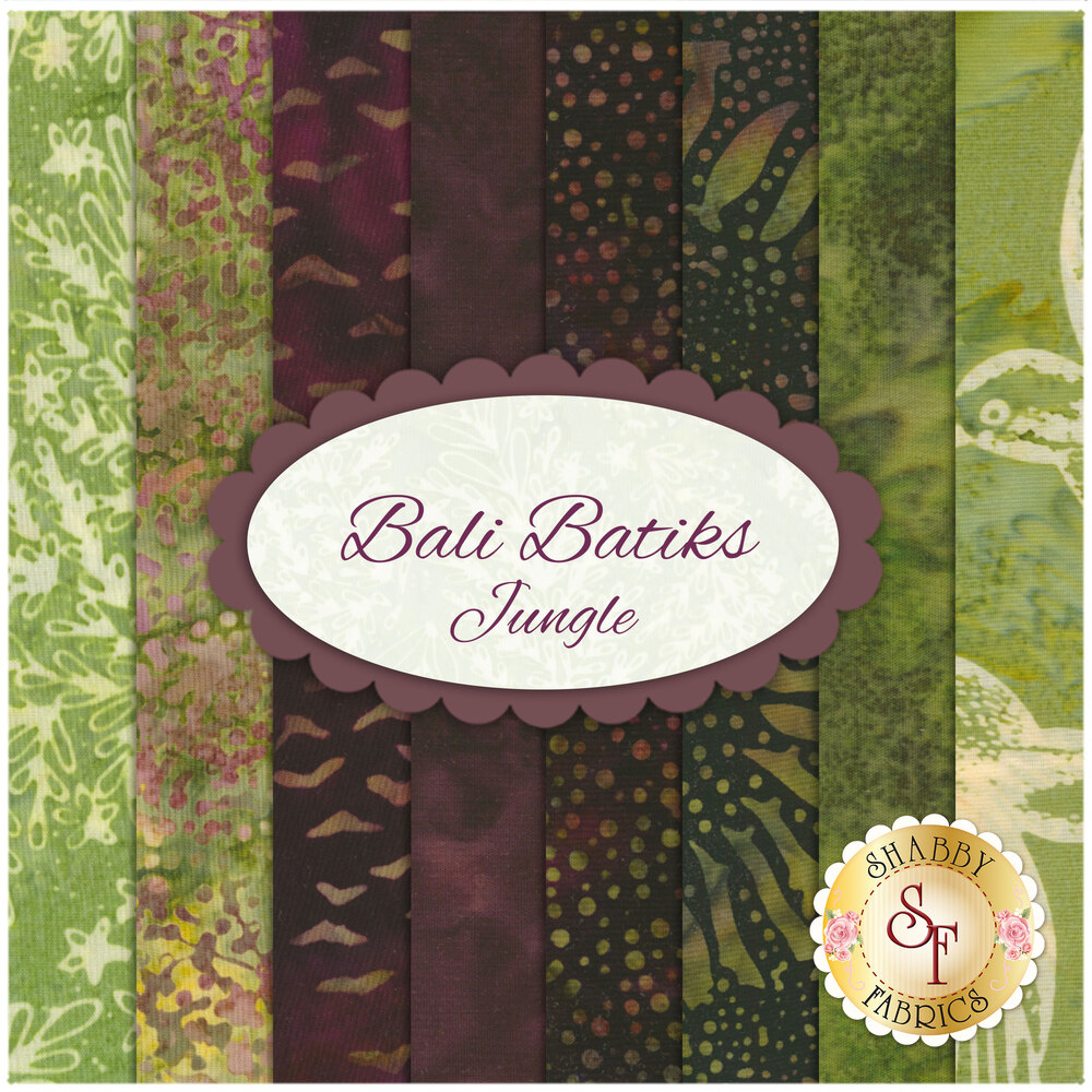 Bali Batiks  8 FQ Set - Jungle Set for Hoffman Fabrics