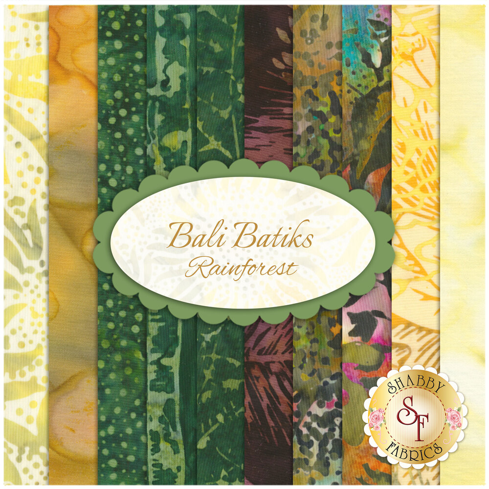 Bali Batiks  10 FQ Set - Rainforest for Hoffman Fabrics California International