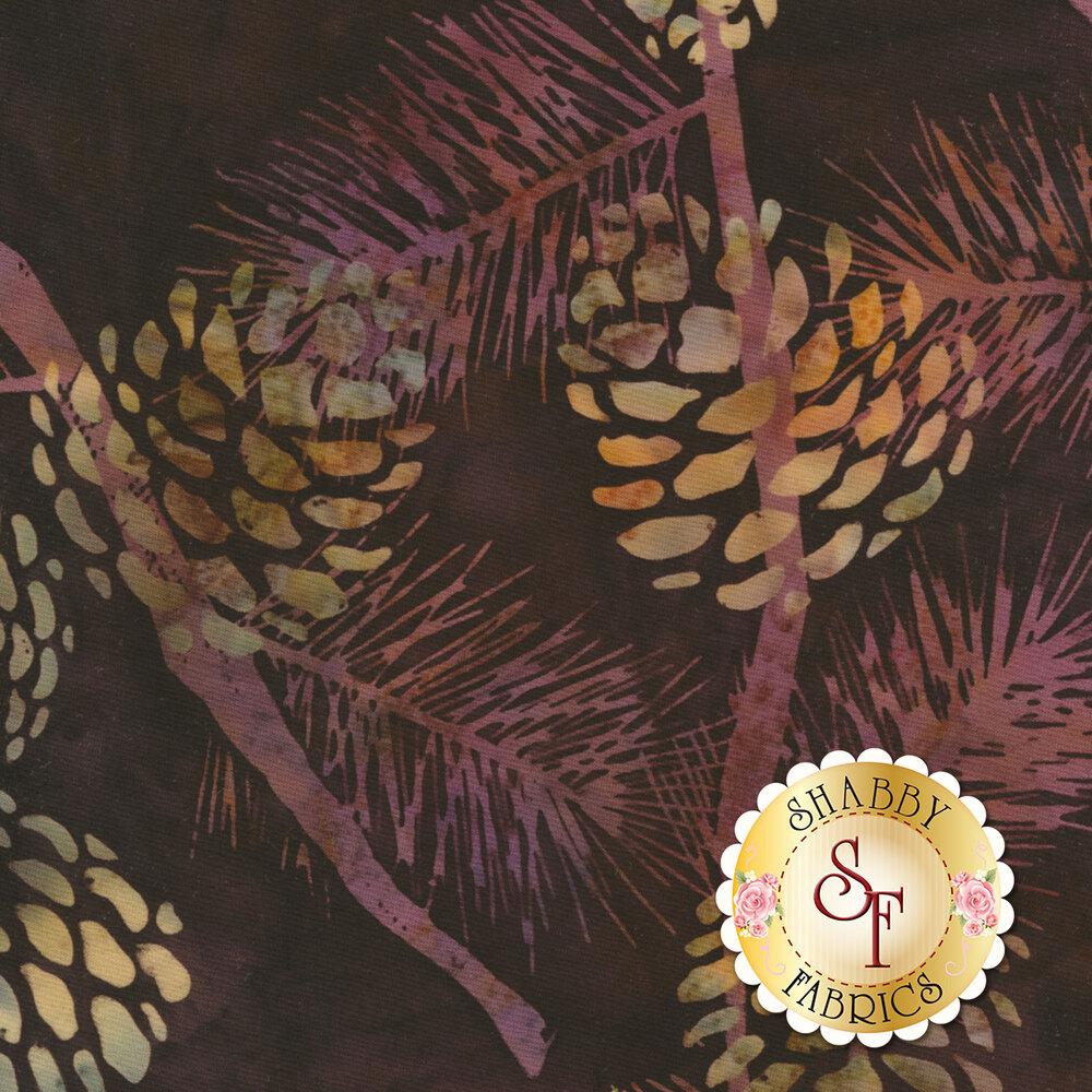 Bali Batiks Q2132-613 Pine Cones Rustica for Hoffman Fabrics California International