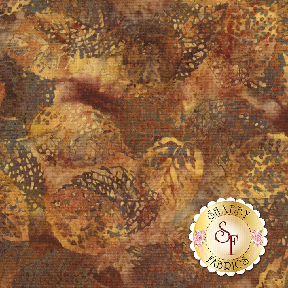 Bali Batiks Q2133-168 Leaves Nutmeg for Hoffman Fabrics California International