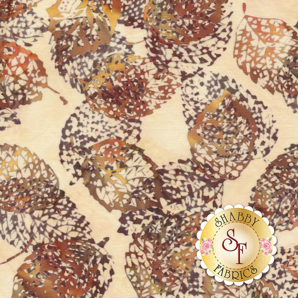 Bali Batiks Q2133-36 Leaves Amber for Hoffman Fabrics California International