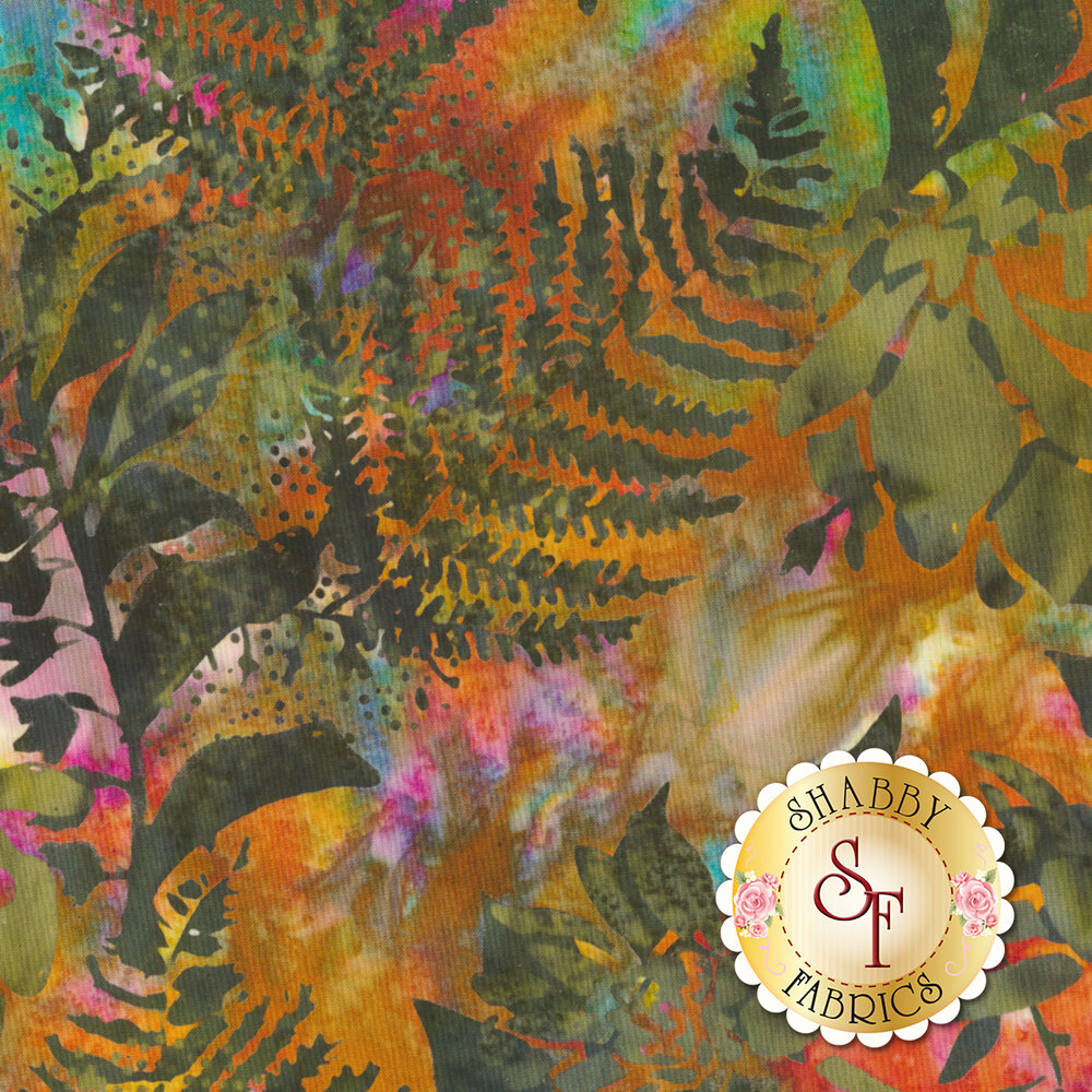 Bali Batiks Q2140-69 Floral Mix Jungle for Hoffman Fabrics California International