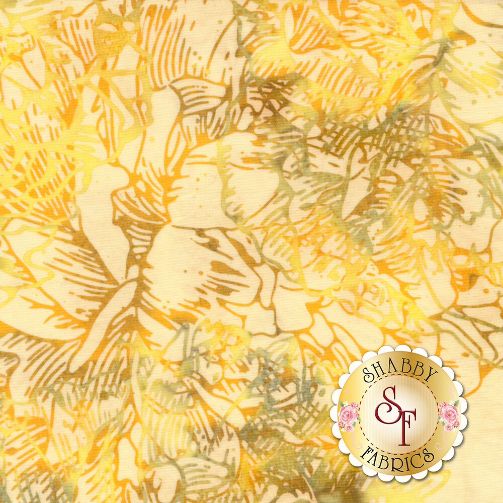 Bali Batiks Q2145-351 Large Flower Sunny for Hoffman Fabrics California International