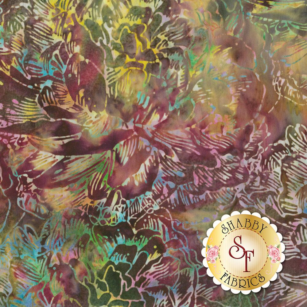 Bali Batiks Q2145-594 Large Flower September for Hoffman Fabrics