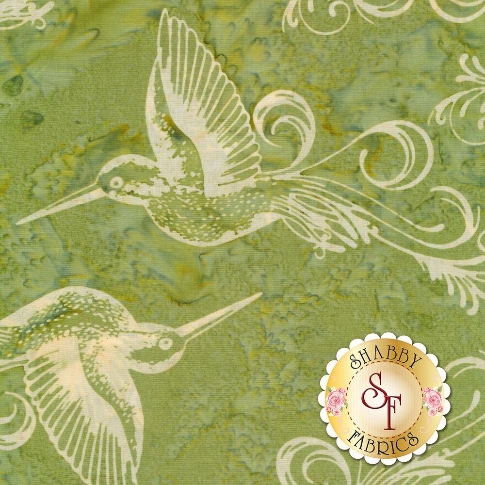 Bali Batiks Q2149-178 Hummingbird Leaf for Hoffman Fabrics