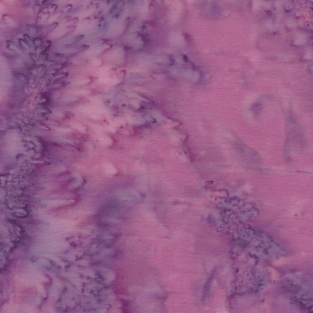 Purple marbled batik