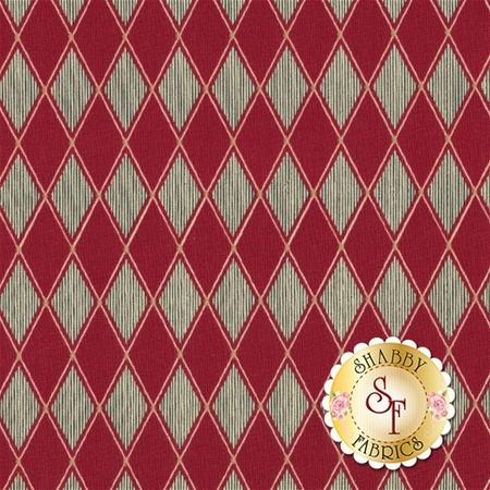 Barber Shop 10132-10 Black Diamond Red by Bristol Bay Studios for Benartex Fabrics