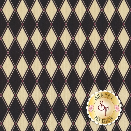Barber Shop 10132-12 Black Diamond Black by Bristol Bay Studios for Benartex Fabrics