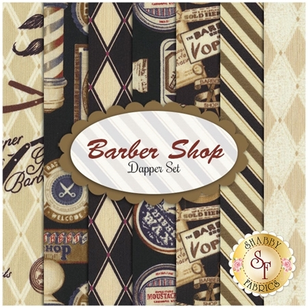 Barber Shop  7 FQ - Dapper Set by Bristol Bay Studios for Benartex Fabrics