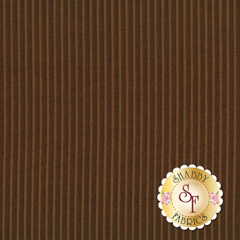 Tonal brown stripe | Shabby Fabrics