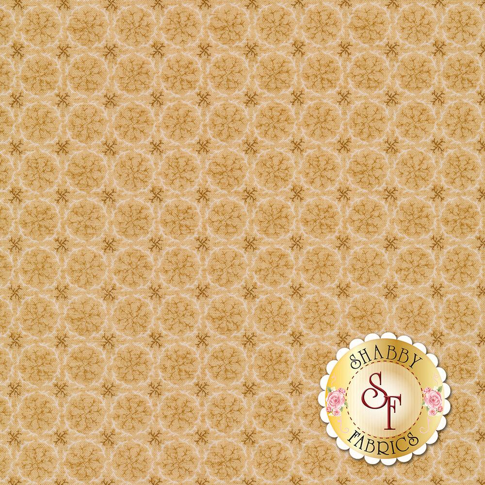 Tonal sprigs on cream | Shabby Fabrics