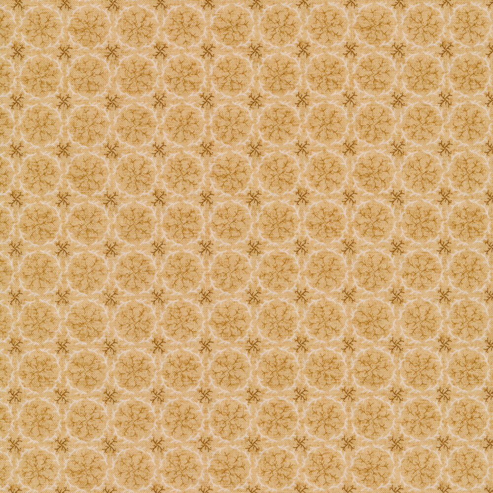 Tonal sprigs on cream | Shabby Fabrics