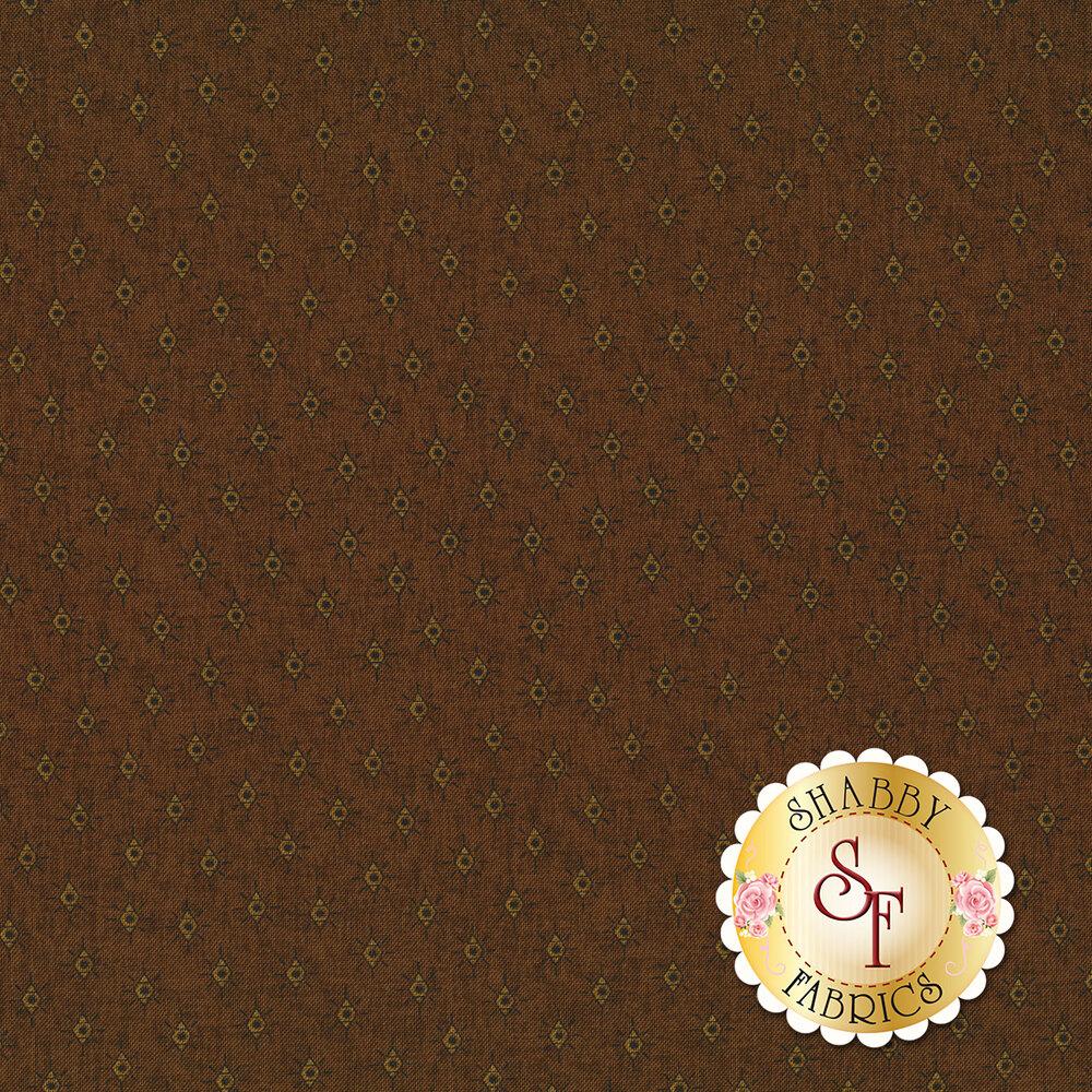 Tonal diamonds on brown | Shabby Fabrics