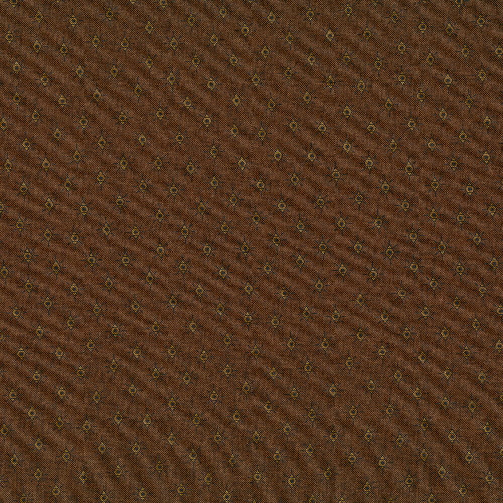 Tonal diamonds on brown | Shabby Fabrics