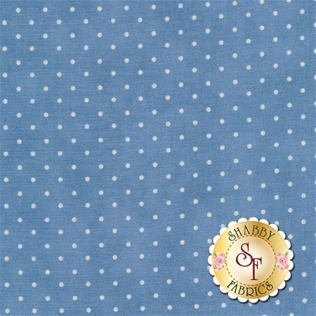 Blue fabric with small white dots