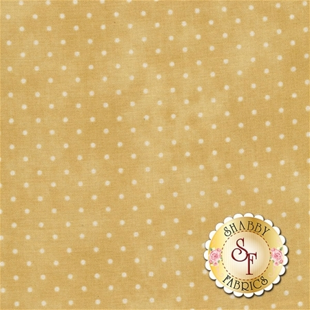 Tan mottled fabric with small white dots