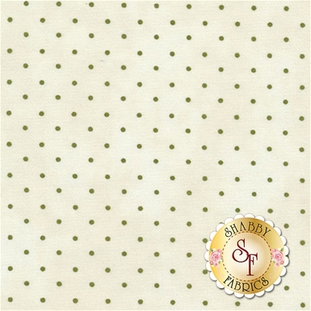 Dark tan polka dots on a cream background