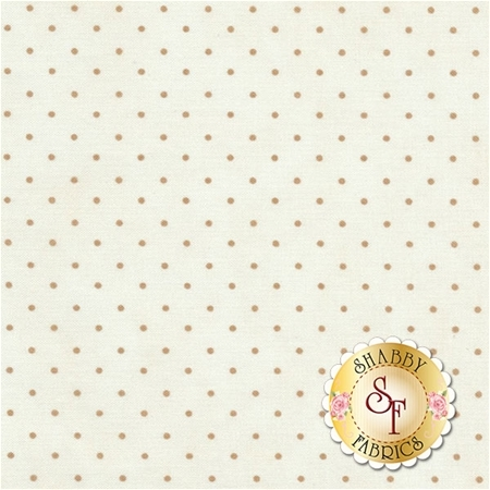 Light brown polka dots on a cream background