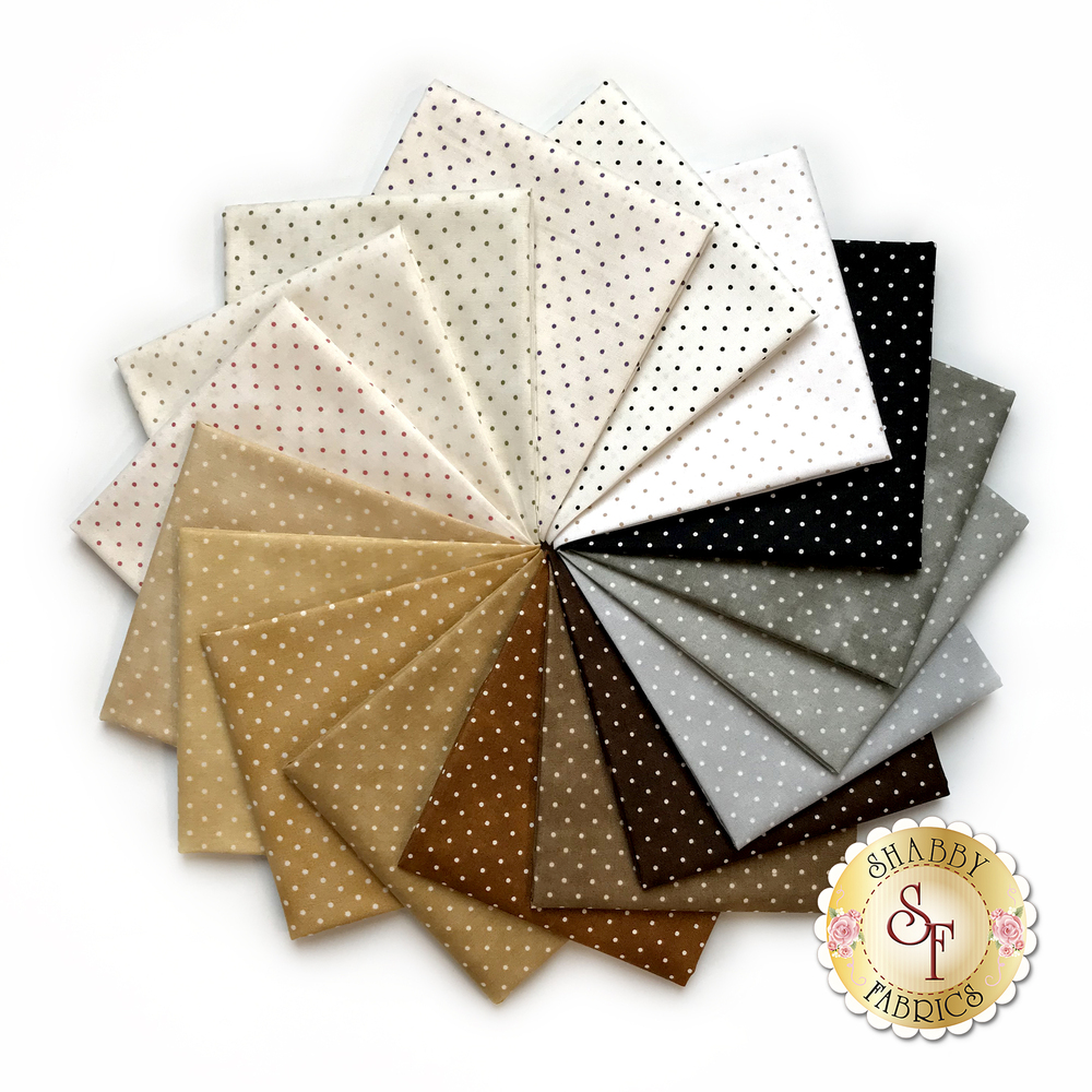 Beautiful Basics  17 FQ Set - Neutral Classic Dot Set by Maywood Studio
