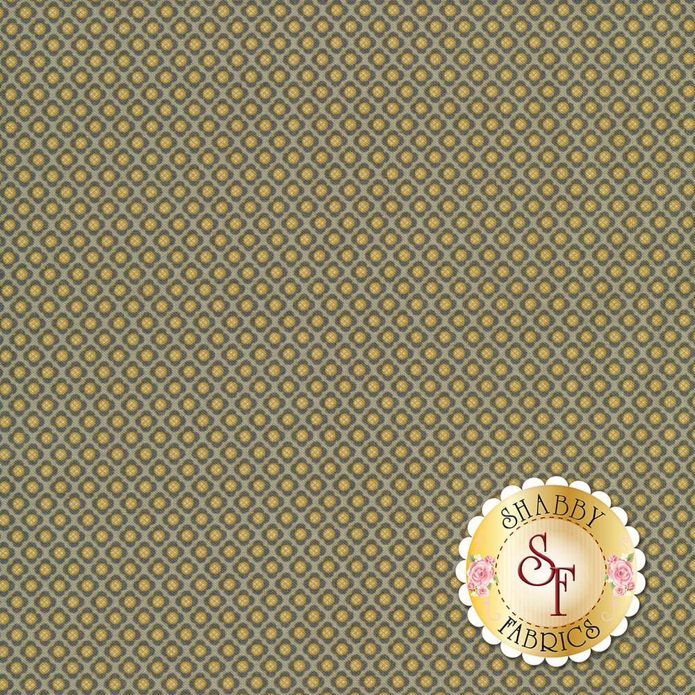 Small green diamond shaped flowers tiled on a light green background