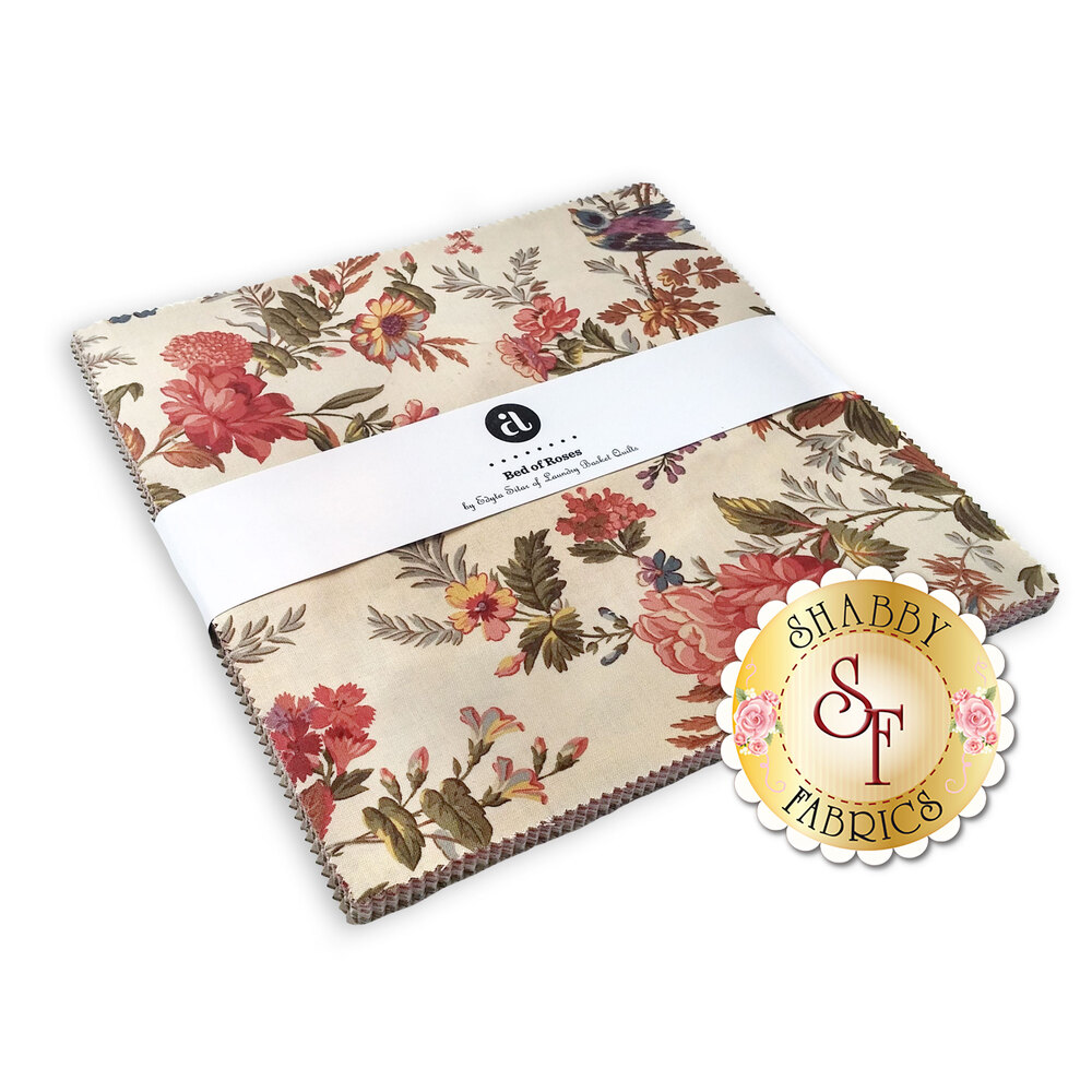 """Bed of Roses  10"""" Squares by Edyta Sitar from Andover Fabrics available at Shabby Fabrics"""