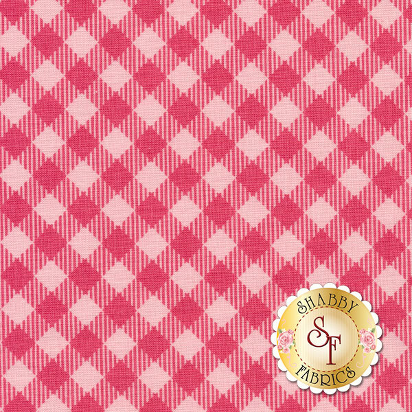 Bee Basics C6400-RASPBERRY Gingham Raspberry by Lori Holt from Riley Blake Designs