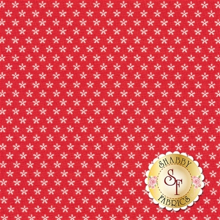 Bee Basics C6403-RED Tiny Daisy Red by Lori Holt from Riley Blake Designs