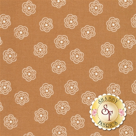 Bee Basics C6404-NUTMEG Blossoms Nutmeg by Lori Holt from Riley Blake Designs
