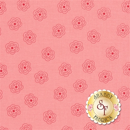 Bee Basics C6404-PINK Blossoms Pink by Lori Holt from Riley Blake Designs