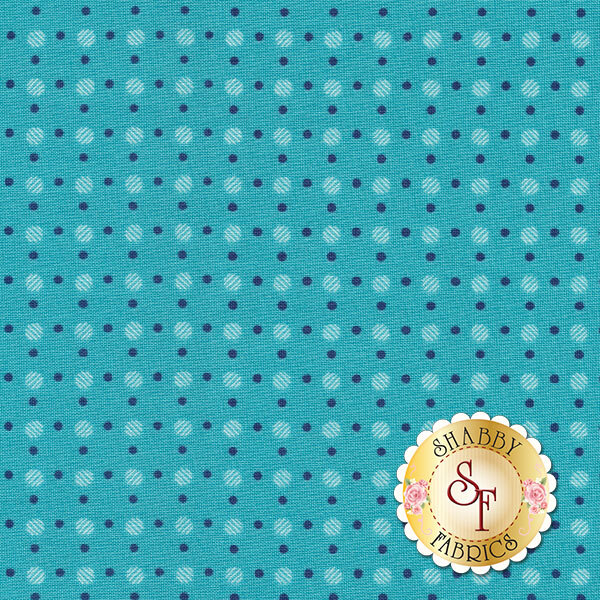 Bee Basics C6405-TURQUOISE Polka Dot Turquoise by Lori Holt from Riley Blake Designs