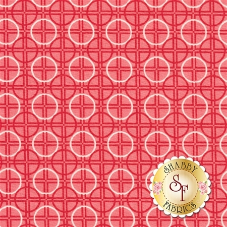 Bee Basics C6407-RED Circle Red by Lori Holt from Riley Blake Designs
